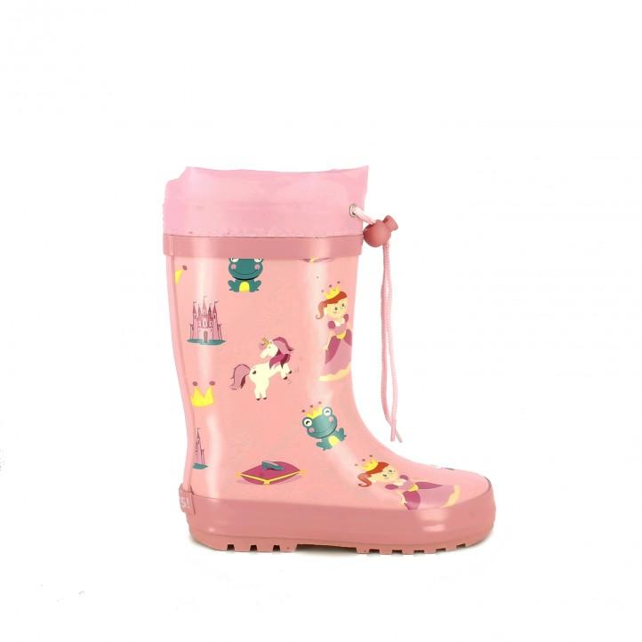botas agua QUETS! rosas con princesas y unicornios - Querol online