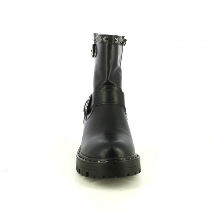 botines tacón XTI negros sintéticos con tachuelas - Querol online