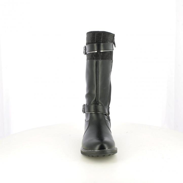 botas ASSO negras con brillantes - Querol online