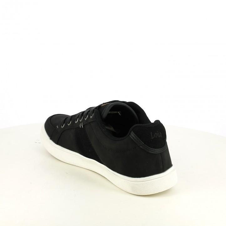 zapatos sport LOIS negros sintéticos - Querol online