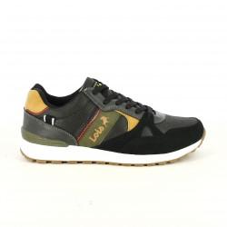 sabates sport LOIS negres, marrons i verdes - Querol online