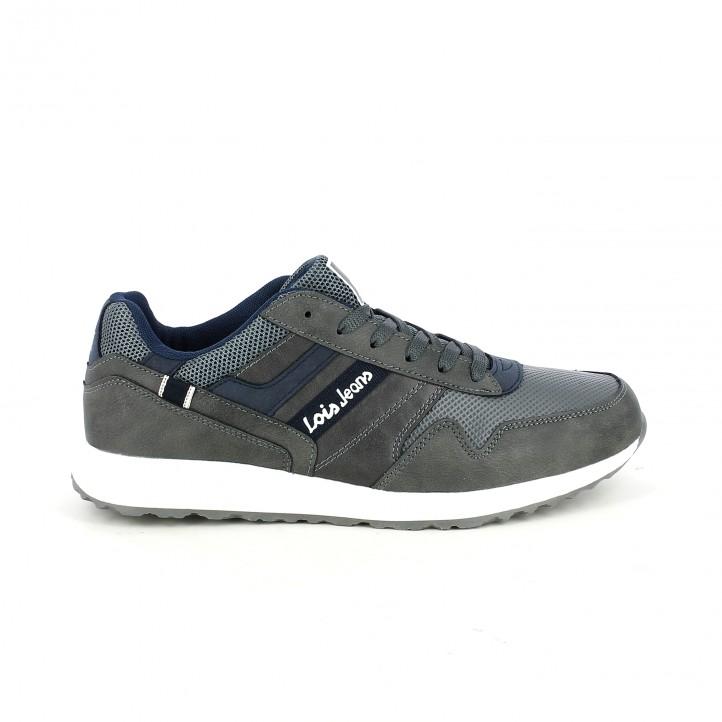 zapatos sport LOIS grises y azules - Querol online