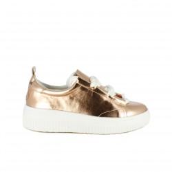 zapatillas deportivas MARIA MARE metalizadas con cordones blancos - Querol online
