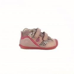 Botas BIOMECANICS rosas de piel con puntos plateados - Querol online