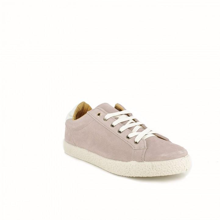 zapatillas deportivas REDLOVE rosas de piel - Querol online