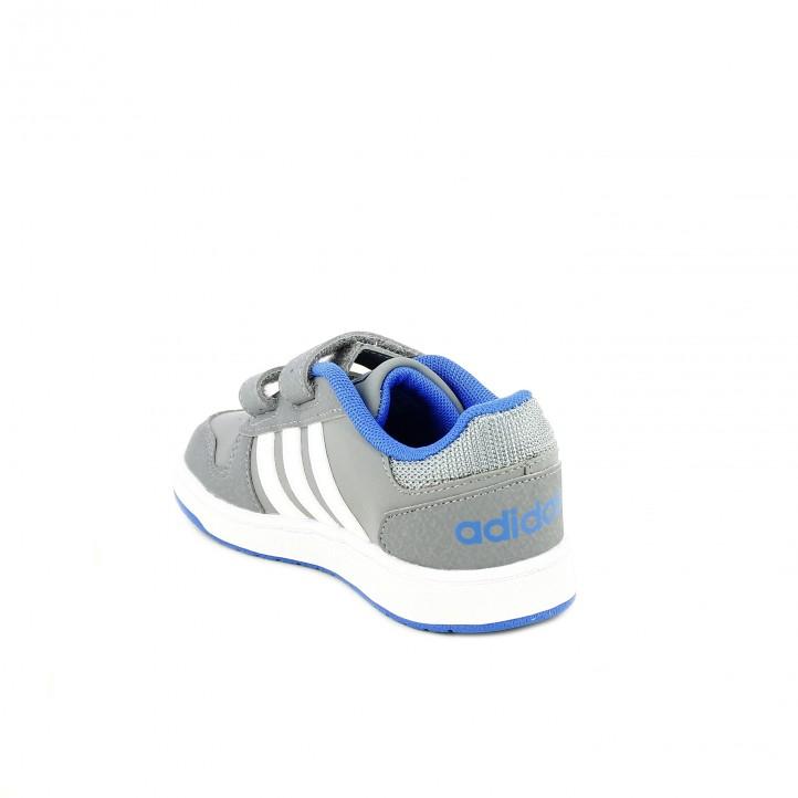 zapatillas deporte ADIDAS grises, blancas y azules - Querol online