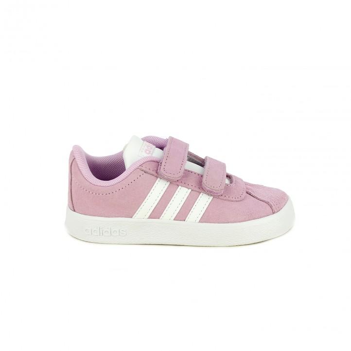 zapatillas deporte ADIDAS rosas de serraje - Querol online