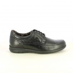 sabates sport FLUCHOS negres de pell amb sola flexible - Querol online