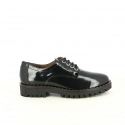 zapatos tacón REDLOVE negros de charol con cordones - Querol online