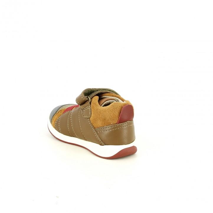 Botas GARVALIN marrones de piel con gomas rojas - Querol online