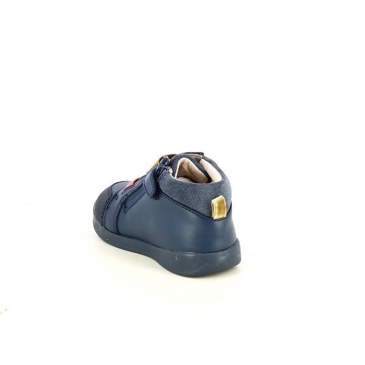 Botas GARVALIN azules de piel con gatos - Querol online