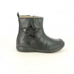 botines BIOMECANICS negros de piel con estrella - Querol online