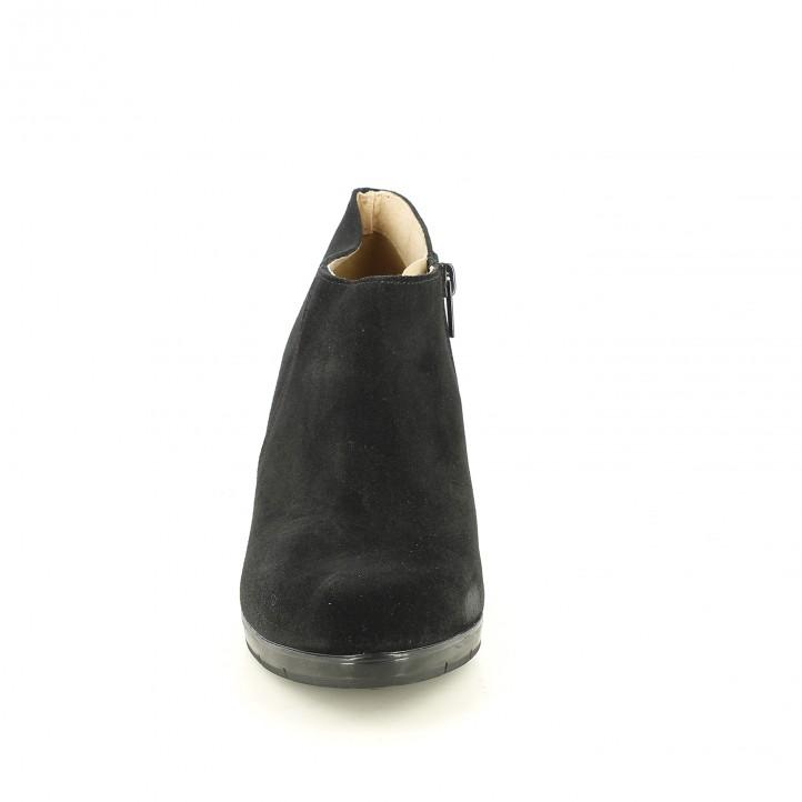 botines tacón REDLOVE negros de serraje - Querol online