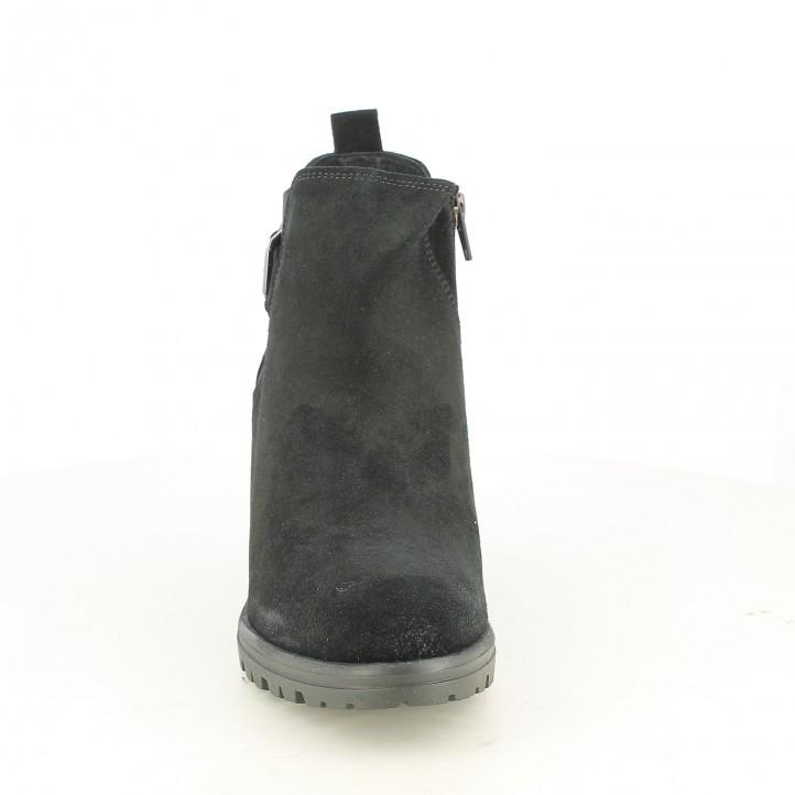 botins de taló REDLOVE negres de serratge amb sivelles - Querol online