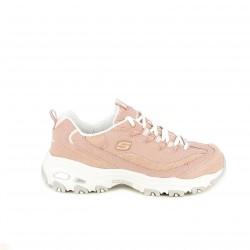 zapatillas deportivas SKECHERS rosas y blancas - Querol online