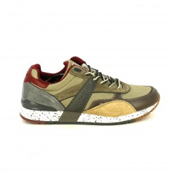 zapatillas deportivas NAPAPIJRI marrones, grises y rojas - Querol online