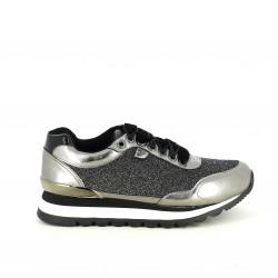 zapatillas deportivas GIOSEPPO plateadas con terciopelo - Querol online