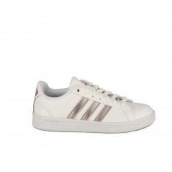 zapatillas deportivas ADIDAS advantage blancas y rosas - Querol online