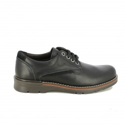 sabates vestir LOBO negres de pell amb fil blanc - Querol online