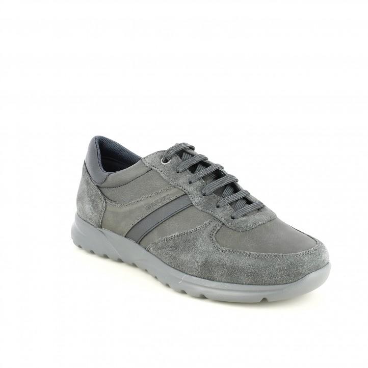 Serraje Sport De Lisa Geox Querol Y Piel Grises Online Zapatos q1gwdtt