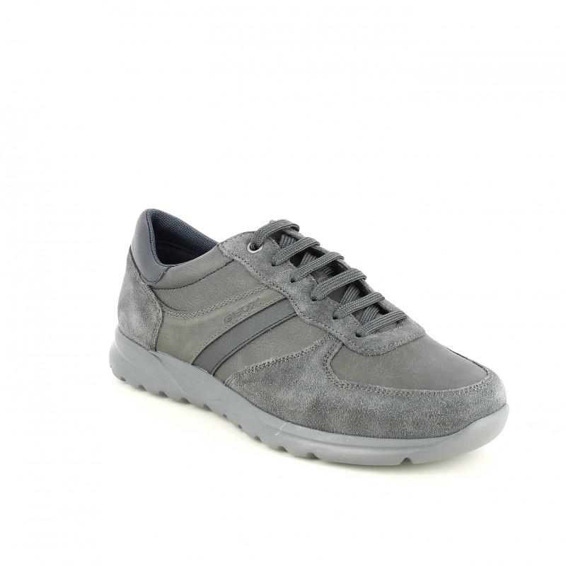 Querol De Lisa Piel Sport Zapatos Grises Online Geox Y Serraje UwE8wqxA