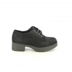 zapatos QUETS! bluchers negros textiles - Querol online