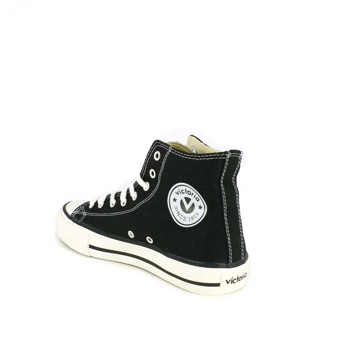 zapatillas lona VICTORIA botas negras - Querol online