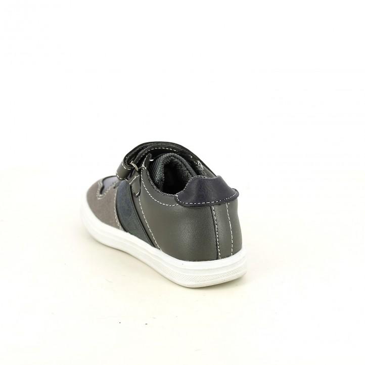 zapatos LOIS grises con elástico - Querol online