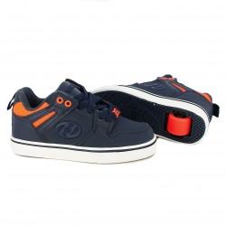 zapatillas deporte HEELYS azules y naranjas con ruedas - Querol online