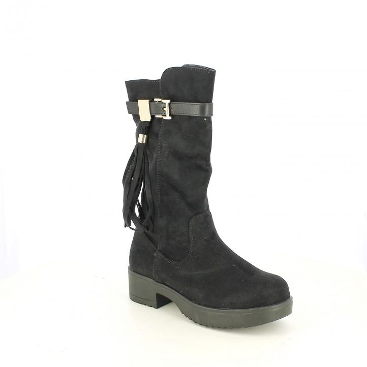 botas XTI negras con borlas - Querol online