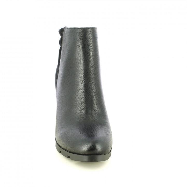 botines tacón MARIA MARE negros con cremallera - Querol online