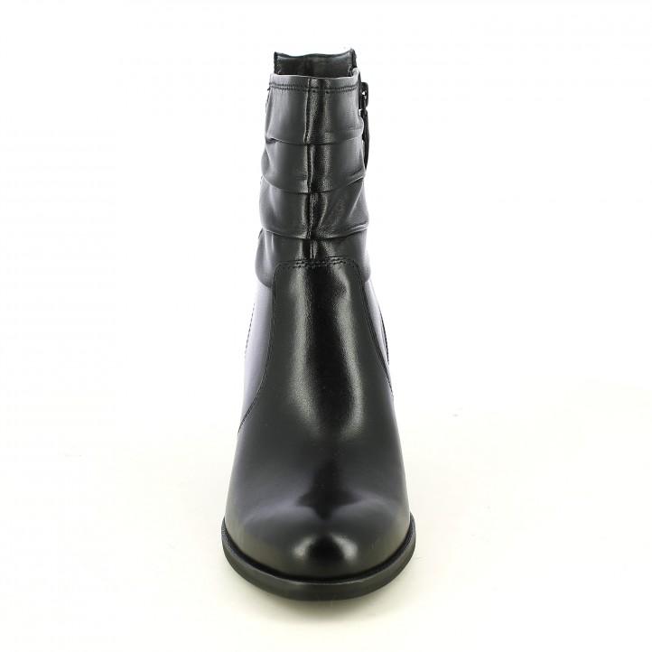 botines tacón TAMARIS negros caña con pliegues - Querol online