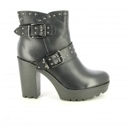 botines tacón REFRESH FOOTWEAR negros con tachuelas y plataforma - Querol online