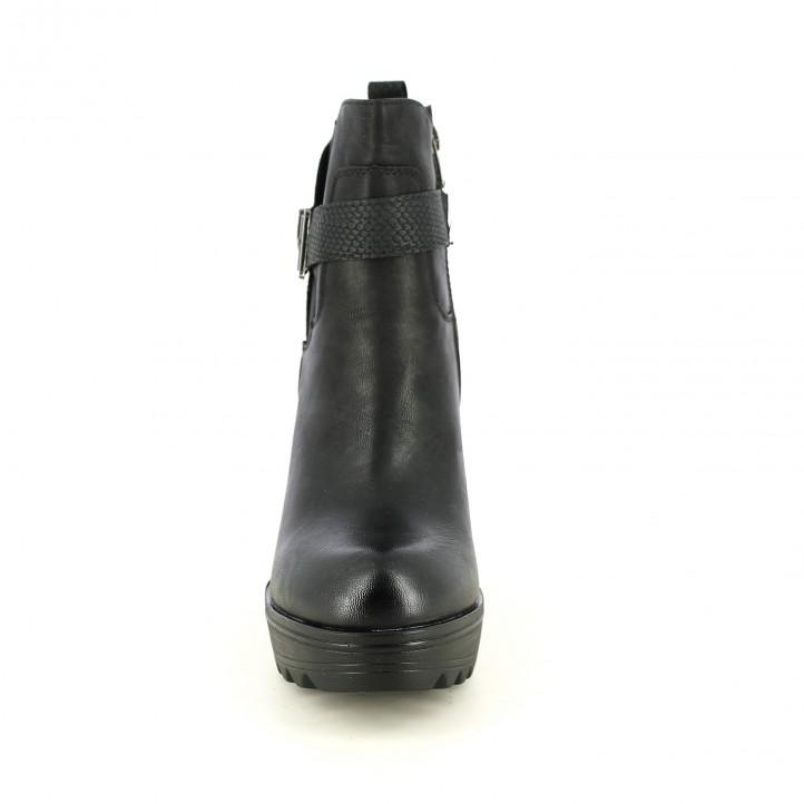 botines tacón REFRESH FOOTWEAR negros animal print - Querol online