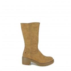 botas tacón REFRESH FOOTWEAR marrones afelpadas - Querol online