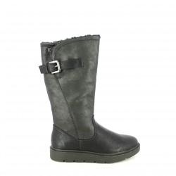 botas planas REFRESH FOOTWEAR negras con pelo interior - Querol online