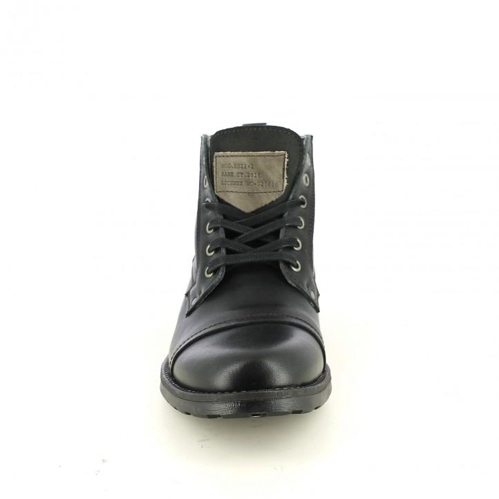 botines LOBO negros de piel y con cordones - Querol online