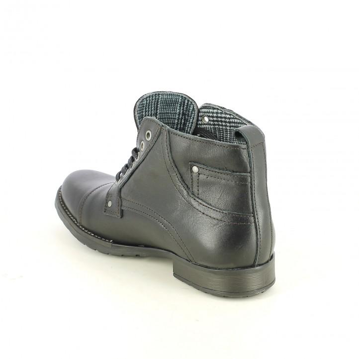 botins LOBO negres de pell i amb cordons - Querol online