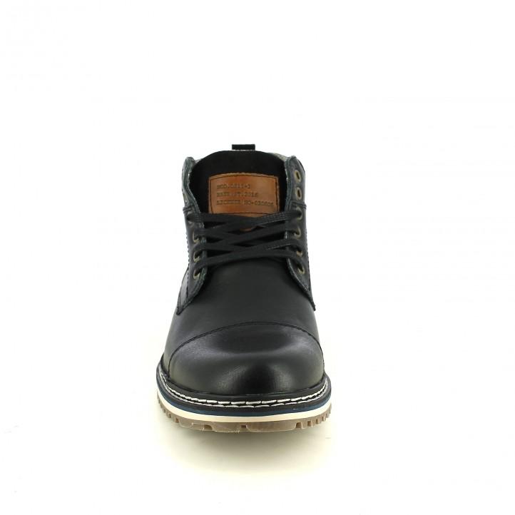 botines LOBO negros piel y con cordones - Querol online