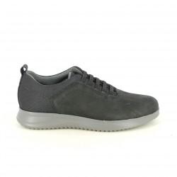 zapatos sport LOBO negros con cordones elásticos - Querol online