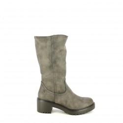 botas tacón REFRESH FOOTWEAR grises afelpadas - Querol online