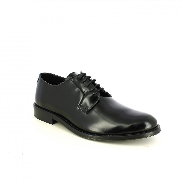 zapatos vestir BE COOL negros de piel - Querol online