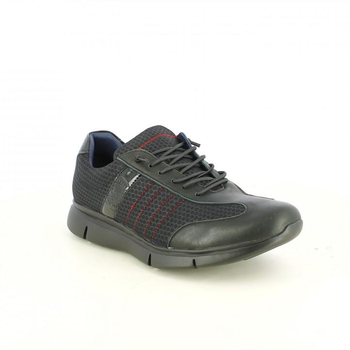 zapatos sport BE COOL negros con cordones de goma - Querol online