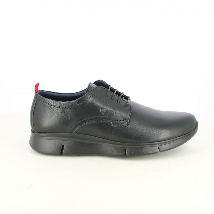 zapatos sport BE COOL de piel con cordones negros - Querol online