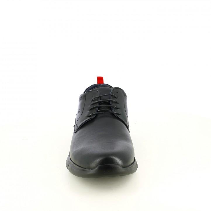 sabates sport BE COOL de pell amb cordons negres - Querol online
