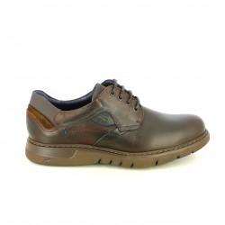 zapatos sport FLUCHOS marrones de piel con plantilla acolchada - Querol online