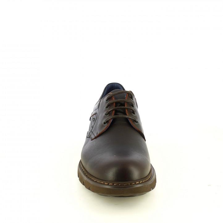 sabates sport FLUCHOS marrons de pell amb plantilla encoixinada - Querol online