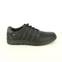 sabates sport BAERCHI negres pell amb cordons elàstics - Querol online