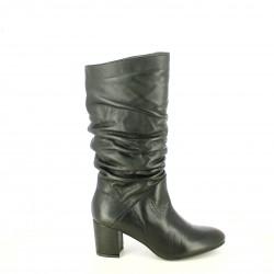 botas tacón REDLOVE negras de piel con pliegues - Querol online