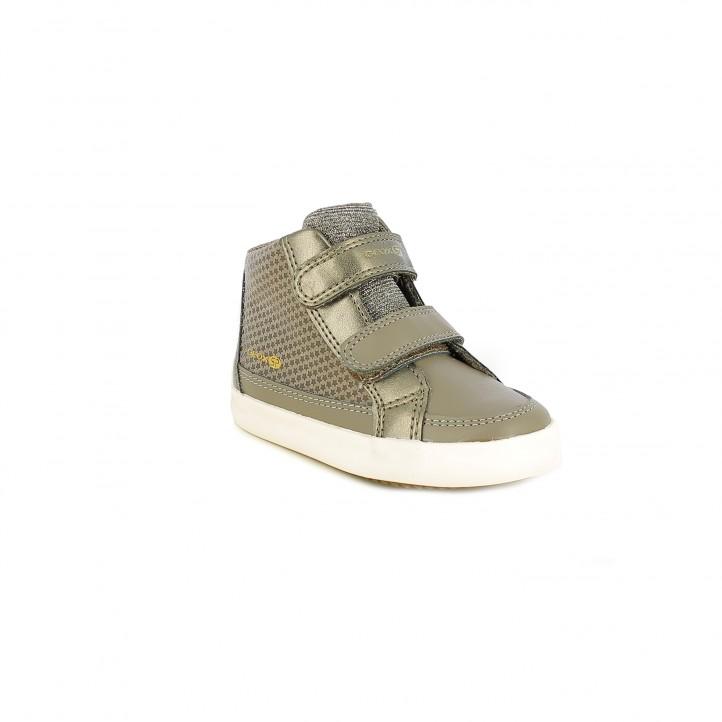 zapatillas lona GEOX grises con estrellas - Querol online